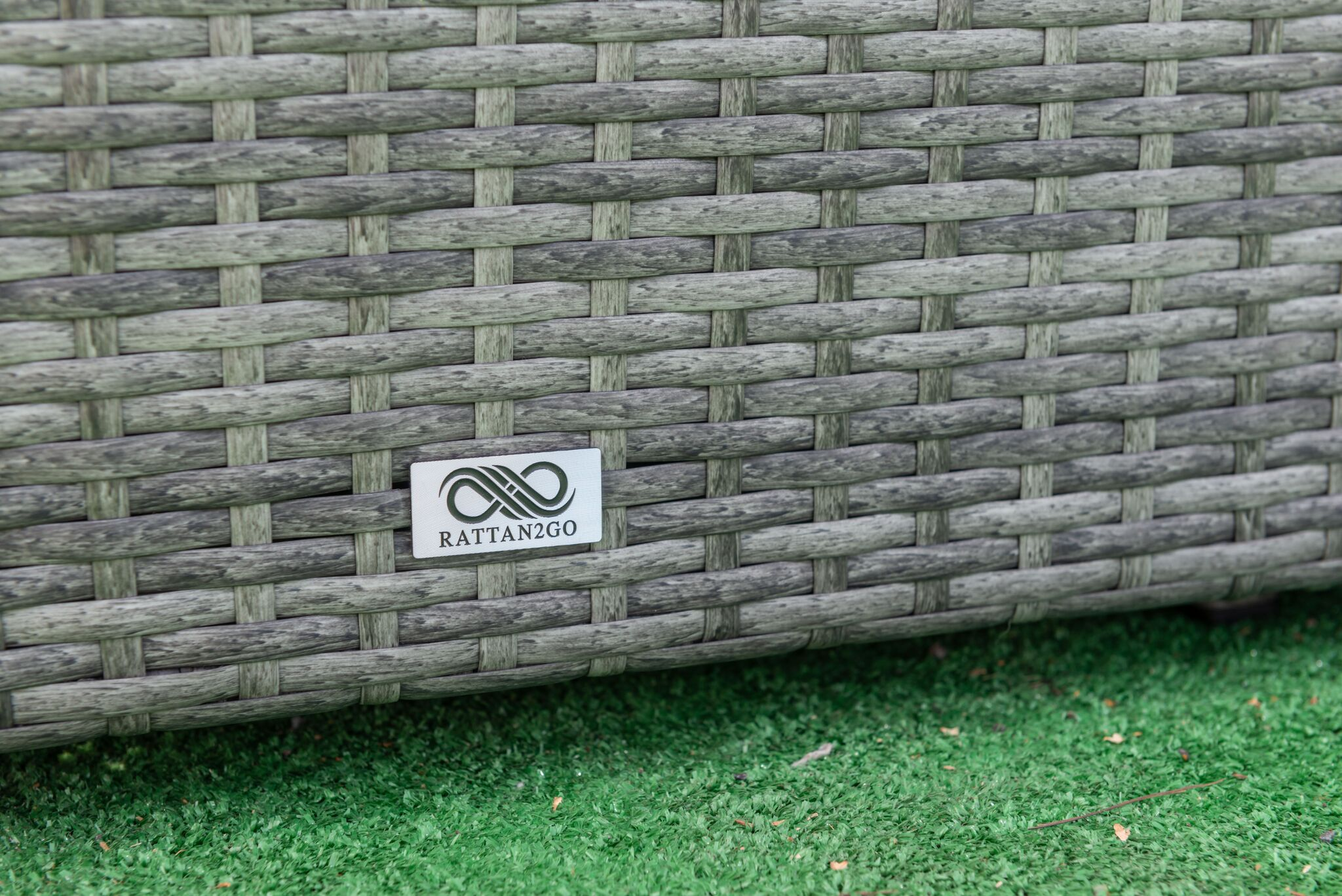 Luxury Storage Box Grey Mix Rattan Rattanfurniture2go