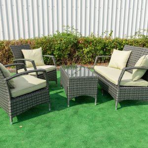 Torbay Green 4 Piece Conservatory Garden Set
