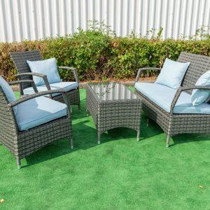 Torbay Blue 4 Piece Conservatory Garden Set