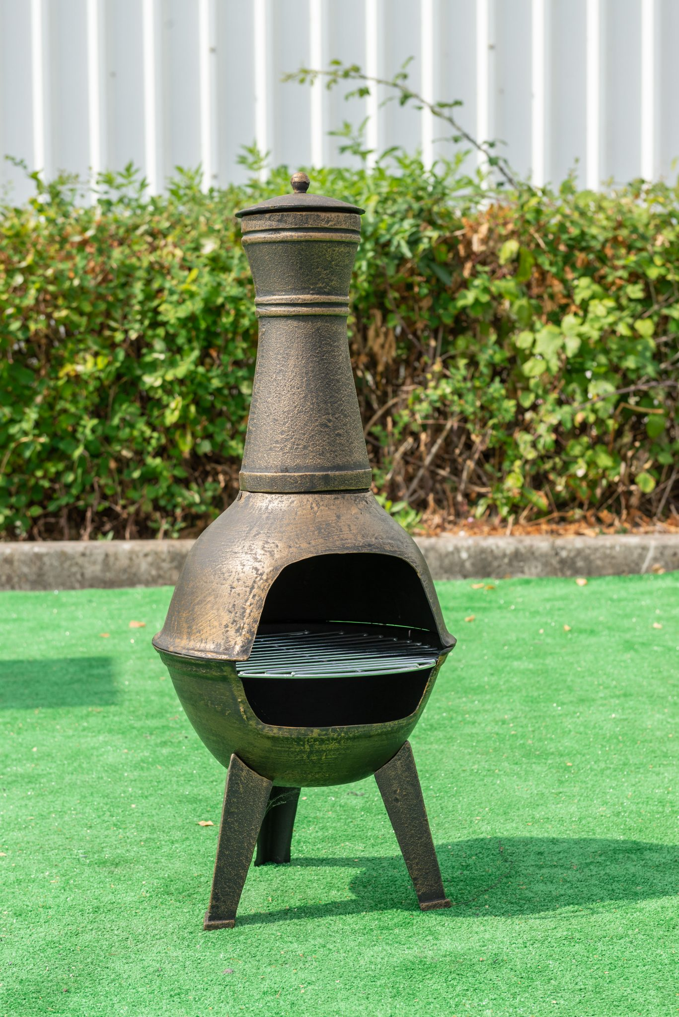 Small Chiminea Patio Heater Rattanfurniture2go