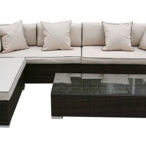 Sunningdale Sofa & Chaise Lounge Set With Coffee Table
