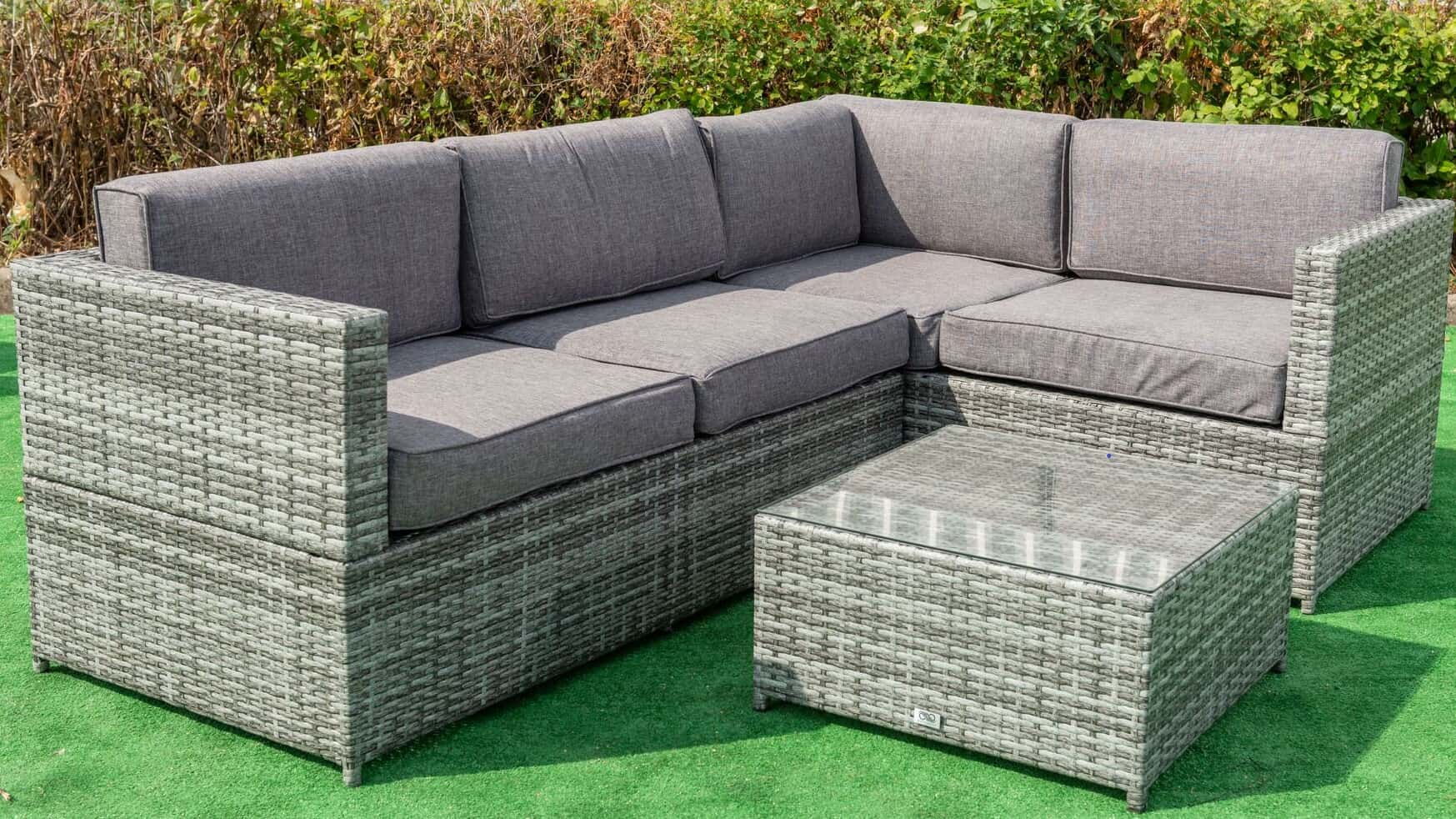 Newquay 3 Piece Corner Sofa Set with Coffee Table